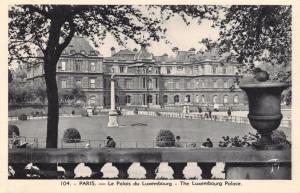Vintage Postcard PARIS The Luxembourg Palace, France No.104 #P