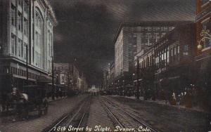 Colorado Denver 16th Street At Night