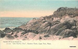 c1905 Old Mother Ann Eastern Point CAPE ANN Hand Colored Rotograph 4813