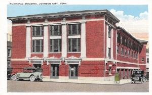 Johnson City Tennessee~City Hall~Mailbox~VIntage Cars~1920s Postcard