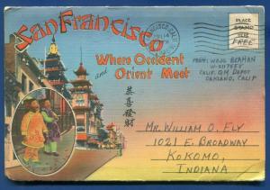 San Francisco California ca Chinatown postcard folder #3