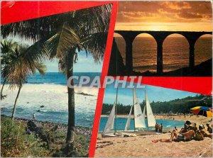 Modern Postcard The Reunion Island Cote Sauvage South Bridge over the large r...