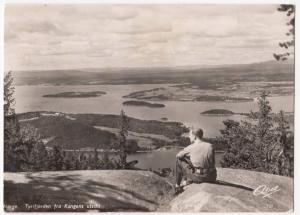 Norway; Oslo, Utsikt Fra Holmenkollen, RP PPC, 1953 PMK View of Fjord From Hill