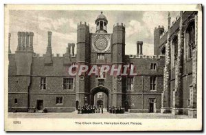 Old Postcard The Clock Court Hampton Court Palace London
