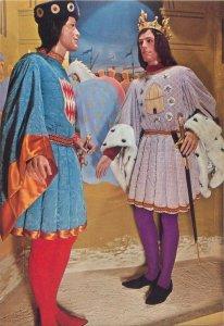 Postcard Historical figures People Jean II Louis XII genoa entry costume sword