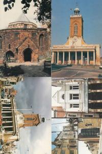 Northampton Opera House Churches Clock Architecture 4x Postcard s