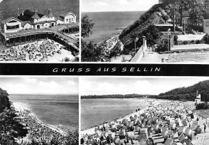 Gruss aus Sellin, Seebruecke Strand Promenade Plage Beach Sea Bridge Panorama