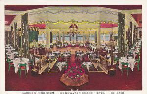 Illinois Chicago Marine Dining Room Edgewater Beach Hotel 1939