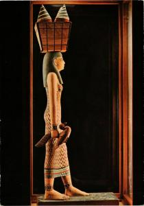 CPM Painted Wooden Statue of a Maid Servant - 11th Dynasty EGYPT (852567)