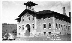 G17/ Troy Idaho Postcard c1940s RPPC Real Photo Public School