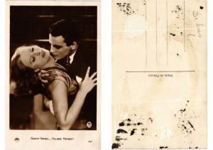 CPA Greta Garbo and Holmes Herbert FILM STAR (554523)