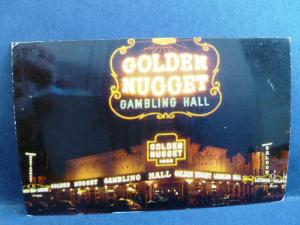 Postcard NV Las Vegas 1950's View of The Golden Nugget Casino Gambling Hall