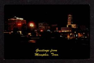 TN Greetings MEMPHIS TENNESSEE TENN Night Hotel Peabody