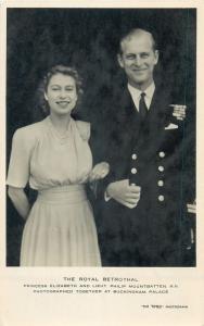 The Royal Betrothal princess Elizabeth and lieutenant Philip Mountbatten royalty