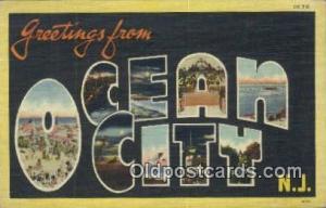 Ocean City, NJ USA Large Letter Town Vintage Postcard Old Post Card Antique P...