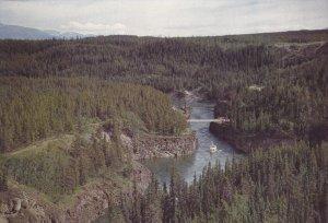 YUKON, Canada; Miles Canyon near Whitehorse, Bridge, 50-70s