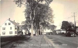 Scarboro ME Oak Hill Street View Real Photo RPPC Postcard