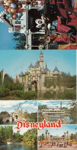Mickey The Firemouse Chief Mouse In Disneyland Vintage American USA 3x Postcard