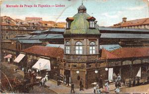 Portugal - Lisboa - Mercado da Praca da Figueira, carriages 1918