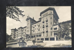 RPPC DANSVILLE NEW YORK PHYSICAL CULTURAL HOTEL VINTAGE REAL PHOTO POSTCARD