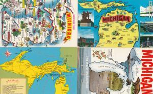 Minnesota Land Of 10000 Lakes 4x Map Postcard s