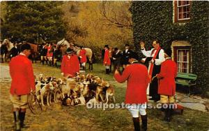 Old Vintage Hunting Postcard Post Card Blessing of the Hounds, Iroquois Hunt ...
