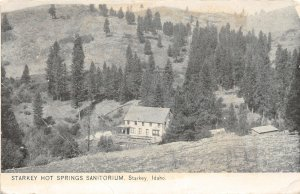 G17/ Starkey Idaho Postcard c1910 Hot Springs Sanitorium Building
