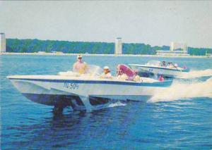 Pizunda , Black Sea , Georgia , Motoring in boat , 50-70s