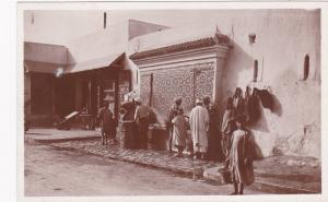RP; Rabat , Morocco , 1910-30s ; Fontaine en mosaique du Marche