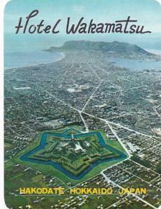JAPAN HAKODATE HOKKAIDO HOTEL WAKAMATSU VINTAGE LUGGAGE LABEL