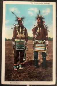 Mint USA Picture Postcard Native American Indian Sioux Union Pacific Railroad