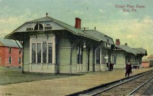 Nickel Plate Depot, Erie, Pennsylvania, PA, USA Railroad Train Depot Postcard...