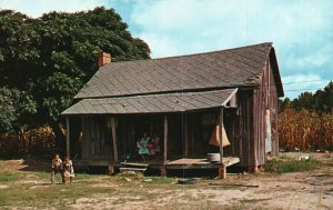 Vintage Postcard Doing the Charleston Down South Family Wooden House NPCS