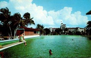 Florida Punta Gorda Hotel Charlotte Harbor Swimming Pool 1956