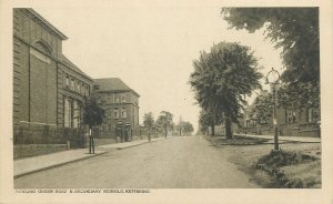 Postcard England Kettering Bowling Green Road and Secondary Schools