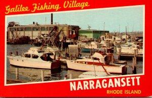 Rhode Island Narragansett Galilee Fishing Village Fishing Boats