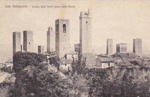 Italy San Gimignano Veduta delle Torri presa dalla Rocca