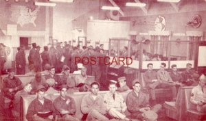 PUBLIC TELEPHONE CENTER, TRANSPORTATION CENTER, FORT EUSTIS, VA. WWII soldiers