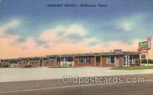 Stewart Motel, McKinney, Texas, USA Motel Hotel Postcard Postcards  Stewart m...