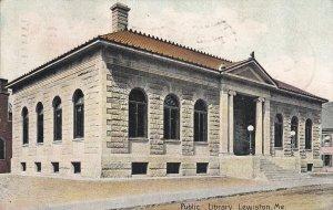 Lewiston , Maine , 1907 ; Public Library