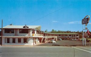 Showlow Arizona~Apache Pines Motel~1950s Cars~Station Wagon~Arrow Lightbulb Sign