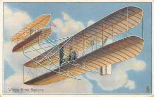 LP72   Aviation  Airplane  Vintage Postcard Tuck Wright Brothers BiPlane