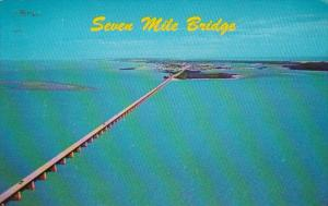 Florida Keys Seven Mile Bridge Looking North 1973