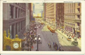 Chicago. Illinois,  State Street,  Trolley cars