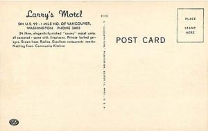 WA, Vancouver, Washington, Lanny's Motel, U.S. 99, Colorpicture No. K 1151