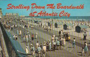 New Jersey Atlantic City Strolling Down The Boardwalk 1965