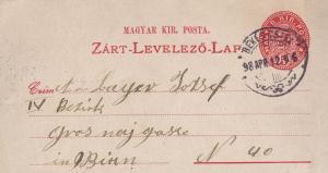Magyar 1898 Hungary Old Postcard Folded Letter