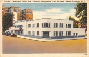 12471  NY  Syracuse 1940's  Central Greyhound Lines Bus Terminal