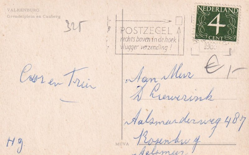VALKENBURG, Limburg, Netherlands, PU-1963; Grendelplein En Cauberg