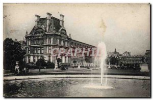 Old Postcard Paris Tuileries Garden